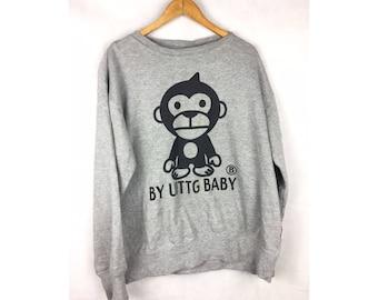 By UTTG BABY Long Sleeve Sweatshirt LL Size With Big Logo