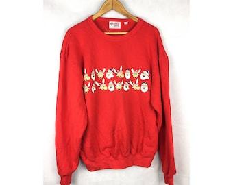 CAPTAIN SANTA Produced by Joymark Design and Co Ltd Large Size Sweatshirt Full Print