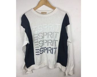 ESPRIT Large Size Sweatshirt With Big Spell Out Embroidered Logo