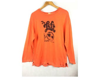 THE LEFT by Cheswick Sportwear produced by Sugar Cane Long Sleeve Sweatshirt Small Size
