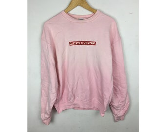 QUIKSILVER ROXY Sweatshirt Medium Size with Small Box Spell Out Logo