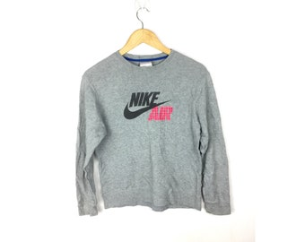 NIKE AIR Long Sleeve Sweatshirt With Big Spell Out Logo Small Size Sweatshirt or Size 140