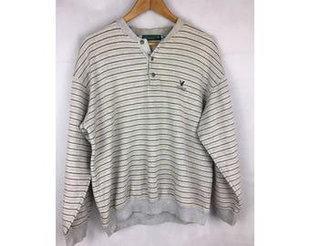 LYLE & SCOTT Collection Large Size Sweatshirt Embroidered Logo Long Sleeve