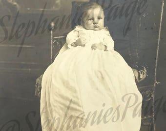 1906 | Baby Portrait | vintage black & white photograph