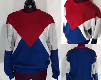 1980s Mens Potomac Collection Sweater