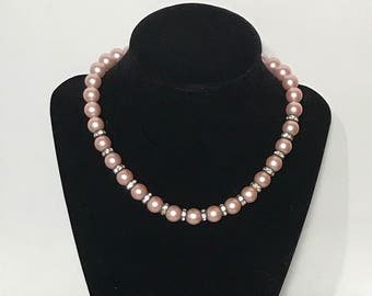 1950s | Vintage Pink | Faux Pearl Necklace