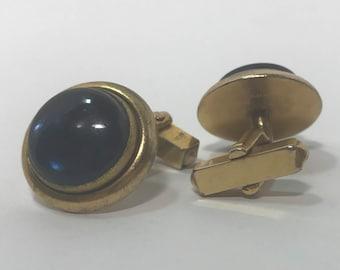 "Vintage Blue ""stone"" Cuff Links"