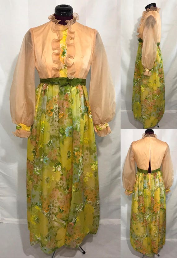 "1970's | ""Bridesmaid"" Dress 