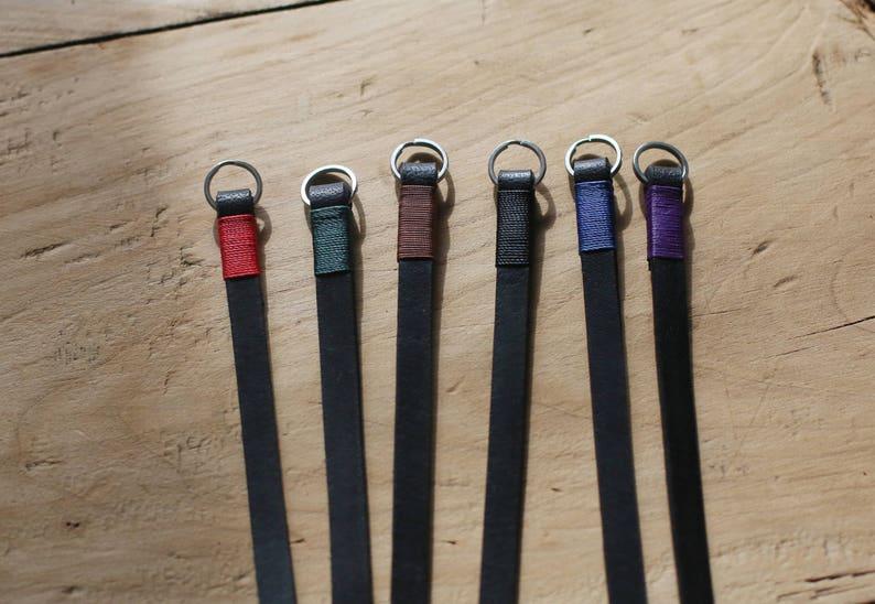Windmup Blue top 8mm thicken black leather handmade Camera neck shoulder strap more color