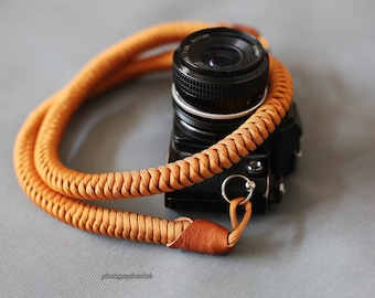Gold 18mm Hand knit Chinese knot handmade Camera neck strap