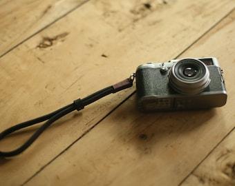 Coffee top Thickened leather 8mm dark Handmade camera wrist strap band