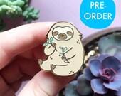 PRE-ORDER Sloth Enamel Pin, two toed sloth, sloth pin, sloths, enamel pins, animal pins, sloth gifts, cute pins, kawaii, cute gifts,Discount