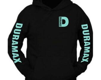 5bdf5eb39bc Duramax Mint Pocket Design Color Black Hoodie Hooded Sweatshirt