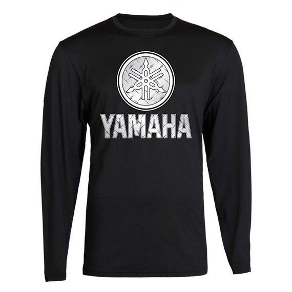 Silver Metal Yamaha Racing Black Long Sleeve TEE YZF R1 R6 YFZ Banshee Long Sleeve