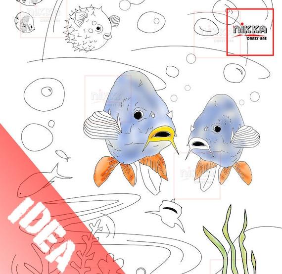 Disegni Di Pesci Da Stampare E Colorare.Disegni Di Pesci Da Stampare E Colorare Animali Da Colorare Pdf Pesci Marini Per Bambini Immagini Pesciolini Da Colorare Immagini