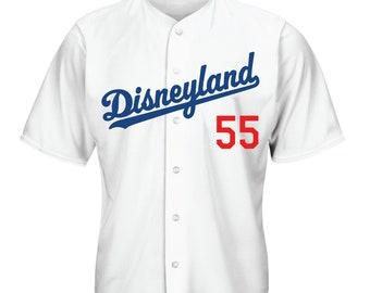 Mens Los Angeles Dodgers Jersey   Disneyland Jersey   Dodger Jersey   Disney  Baseball Jersey   Baseball Jersey    55 f6997c856e1