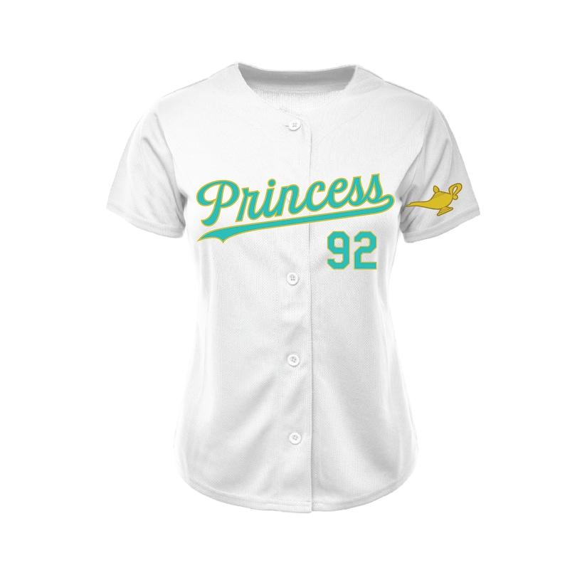 sale retailer d829f f6329 Jasmine Princess White Baseball Jersey