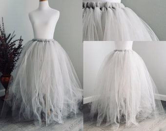 Flower Girl Tulle Skirt/ Custom Color/ Toddler Skirt