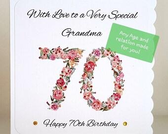 Female Birthday Card Mum Wife Sister Aunt Friend Grandma Nan Any Age
