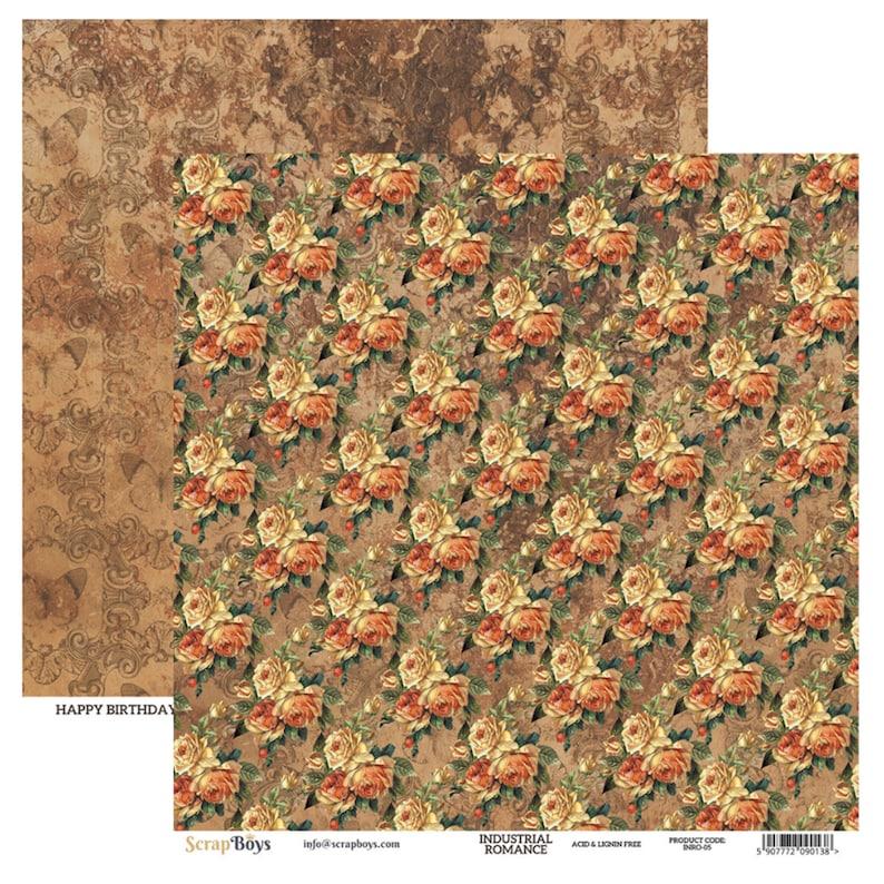 Industrial Romance Scrapbook Paper Pad 12x12 in