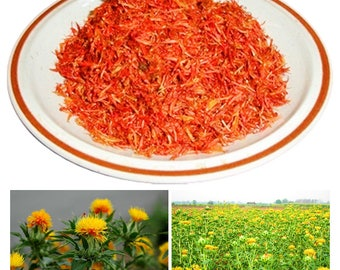 Carthamus Flower Organic, Safflower tea , Carthamus tinctorius L Tea,Carthamus tinctorius Loose Flower Petals 100% Nature  1.05 Oz. (30g)