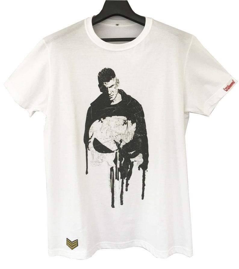 Punisher Skull T-shirt Printing digital Cotton 100% comb (Size M)