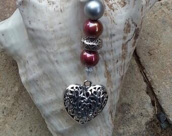 "Heart Keychain ""Palomita"""