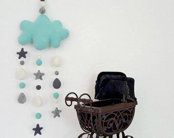 Baby mobile Nursery mobile Baby crib mobile Baby mobiles hanging Mobiles for nursery Newborn Personalized baby pregnancy gift Cot mobile