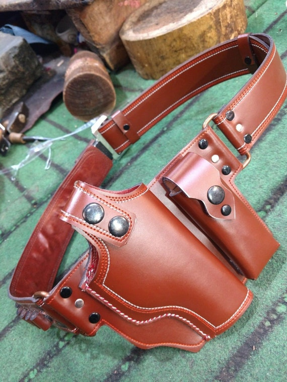 WoW Handcrafted  Makarov Pistol Stylish and amazing leather shoulder Holster .