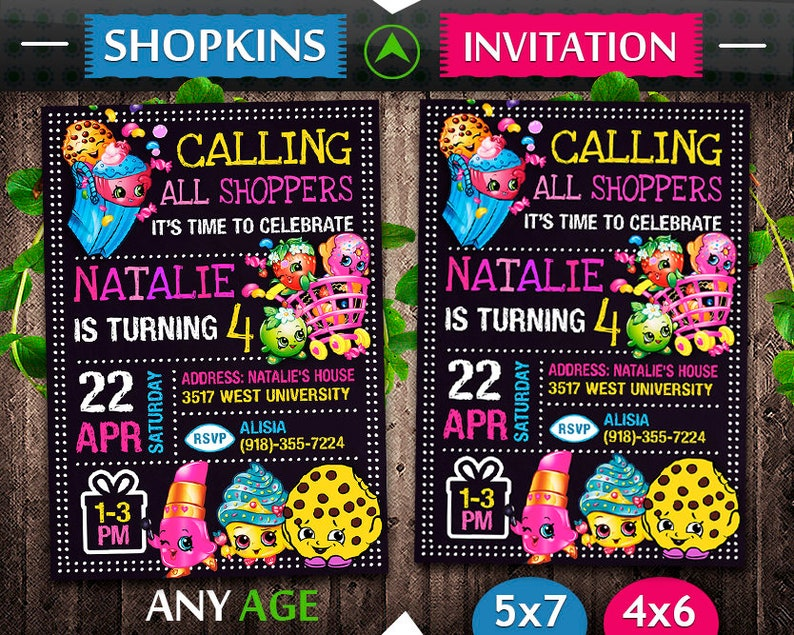 photograph about Shopkins Printable List titled Shopkins Invitation, Shopkins Birthday, Shopkins Invite, Shopkins Bash, Shopkins Printable, Shopkins Electronic, Shopkins Card