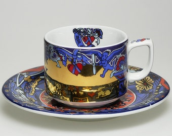 Cup and Saucer * MON AMOUR * from the Series MAGIC by Suisse Langenthal, Made in Switzerland
