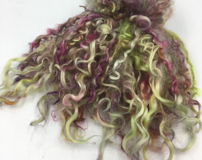 """Featured listing image: Hand Dyed """" Bouquet """" Wensleydale Locks, 50g"""