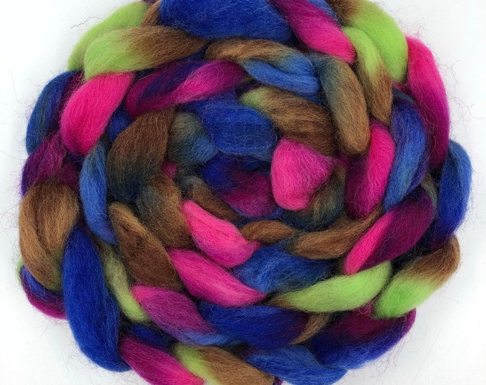 """Featured listing image: Space Dyed """" Mercury """" Roving, 100g"""