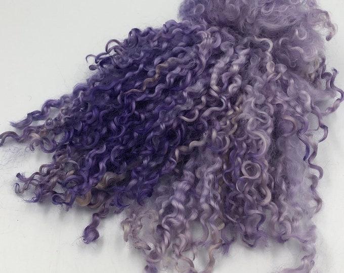 Featured listing image: Purple & Lilac Mix Teeswater Locks, 50g