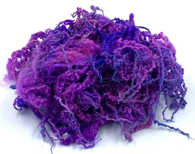 """Featured listing image: Hand Dyed """" Punky """" Blue Faced Leicester Locks, 50g"""