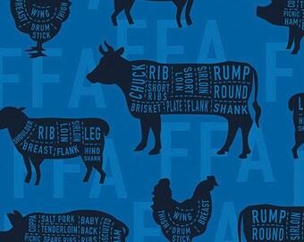 FFA Blue Meat Cut Print