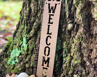 Bear Welcome Plaque - Bad Dog Metalworks Home Décor - Cabin Décor - Country Bear Welcome Sign -