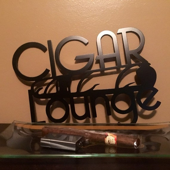 Cigar Lounge Metal Sign Mancave Home Decor Gifts For Etsy