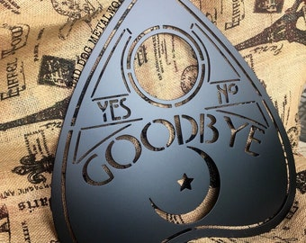 Ouija Board Planchette Metal Decor - Bad Dog Metalworks Original Home Decor - Halloween Decor - Paranormal Witch Gothic Horror Lovers Gifts