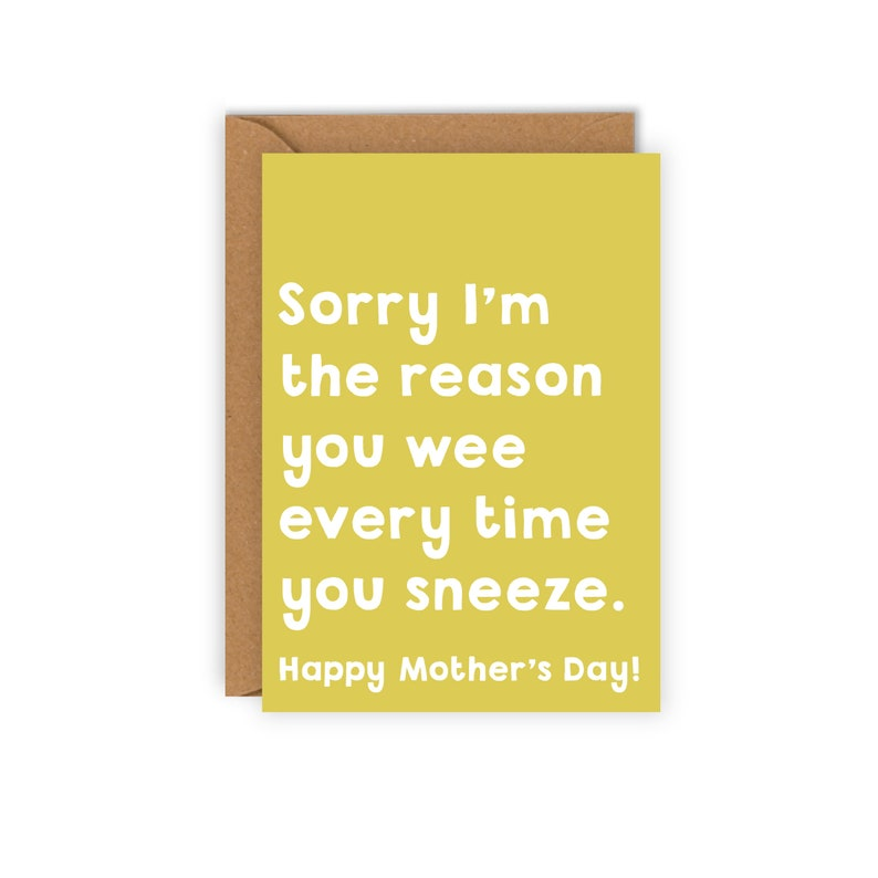 Happy Mother's Day card / Mother's day card / Card for Yellow and white