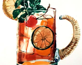 Watercolor of a Cool Drink