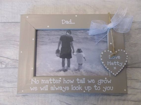 Daddy and Me Personalised Wooden Photo Frame Gift 6x4 5x7 8x6 10x8