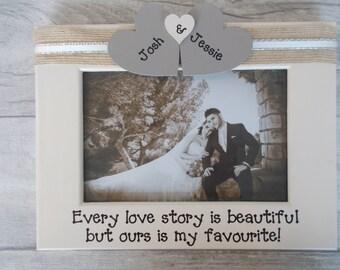 Cadre Photo mariage personnalisé cadeau 6 x 4 5 x 7 10 8 x 6 x 8 n'importe quel texte disponible
