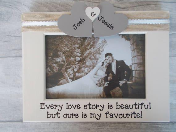 Thank You Wedding Gift Photo Frame Gift 6X4 5X7 8X6 10X8 ANY WORDING