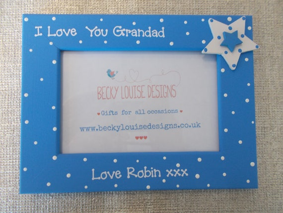 I Love My Great Grandad Photo Frame Gift 6X4 5X7 8X6 10X8 QUICK DISPATCH