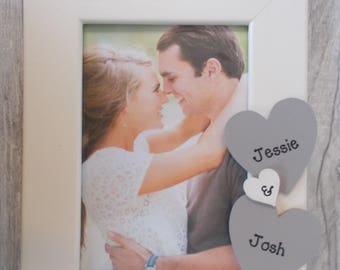 Engagement Photo Frame 6x4 5x7 8x6 10x8 Any Wording Available