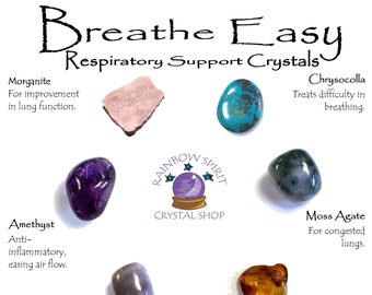 Breathe Easy - Respiratory Support Crystal Set