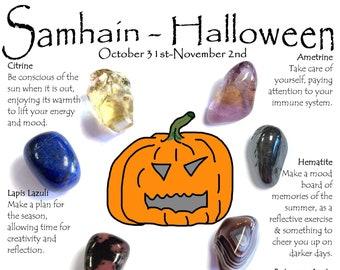 Halloween Samhain Crystal Set