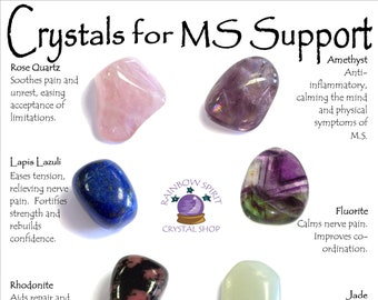Multiple Sclerosis MS Crystal Support Set