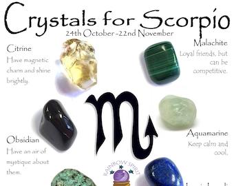 Scorpio Birthstones Crystal Set